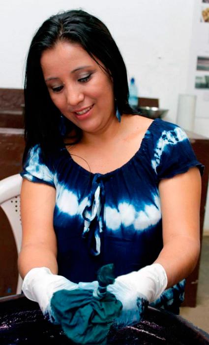 Nina Marcela Flores. Artesana de Santa Ana